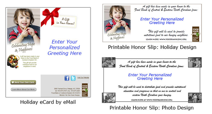 Holiday Honor Samples 2013
